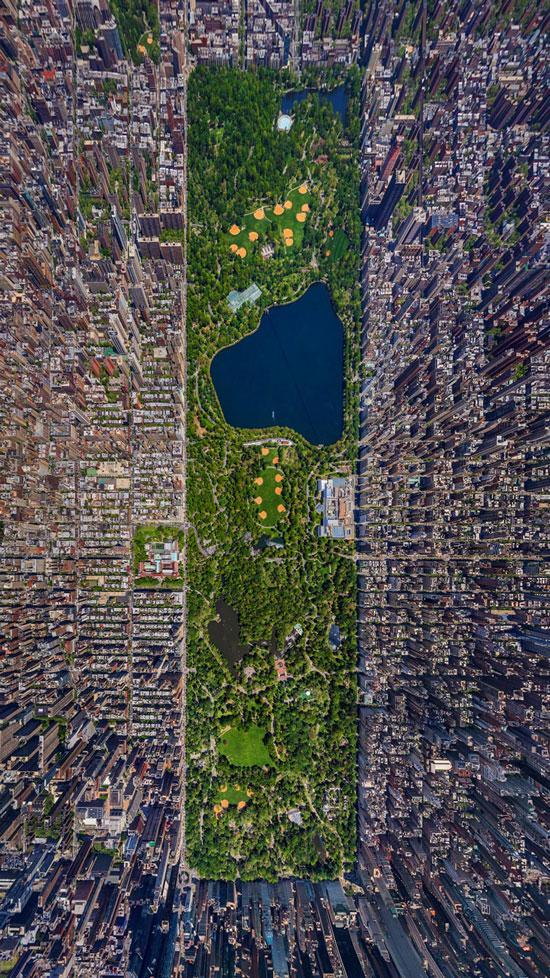 Foto foto di central park dall 39 alto for New york dall alto