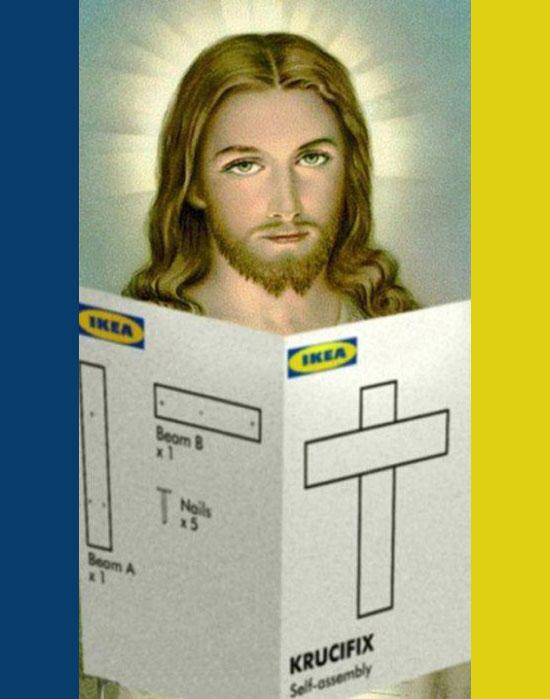 Foto crocifisso ikea for Ikea immagini divertenti