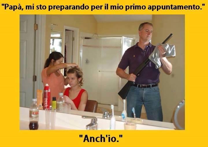 Top Barzellette.net Foto: Padre con fucile per prima uscita della  UZ14