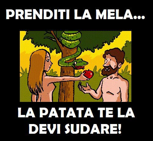 Barzellette.net Foto: Adamo ed Eva con il serpente che suggerisce di p...