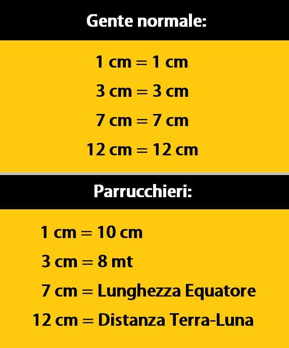 Bien-aimé Barzellette.net Foto: Misure in centimetri per parrucchieri OJ23