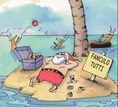 Babbo Natale Immagini Divertenti.Barzellette Net Foto Babbo Natale Che Prende Il Sole Su Un Isola