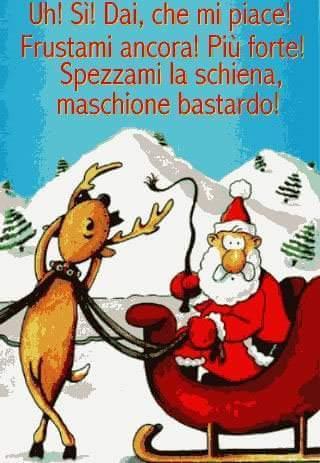 Babbo Natale Immagini Divertenti.Barzellette Net Foto Renna Che Vuole Farsi Frustare Da Babbo Natale