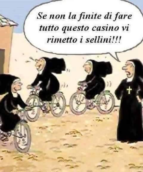 Barzellettenet Foto Suore Che Corrono In Bicicletta Senza Sellino