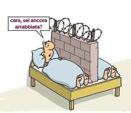 Barzellette.net Foto: Moglie e marito nel letto con al centro un ...