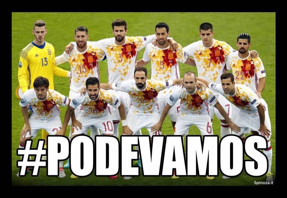 Souvent Barzellette.net Foto: Squadra di calcio spagnola con scritto  EB68
