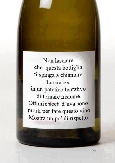 Estremamente Barzellette.net Foto: Etichetta su bottiglia di vino RW16