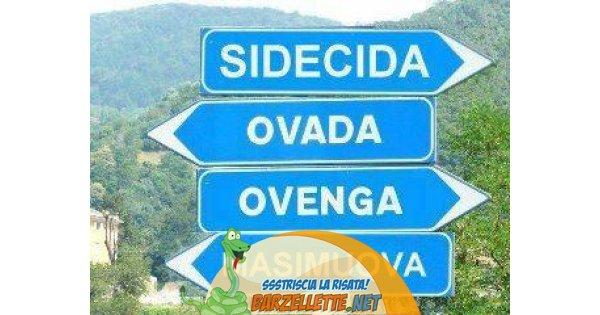 Eccezionale Barzellette.net Foto: Cartelli stradali che indicano città dal  JY22