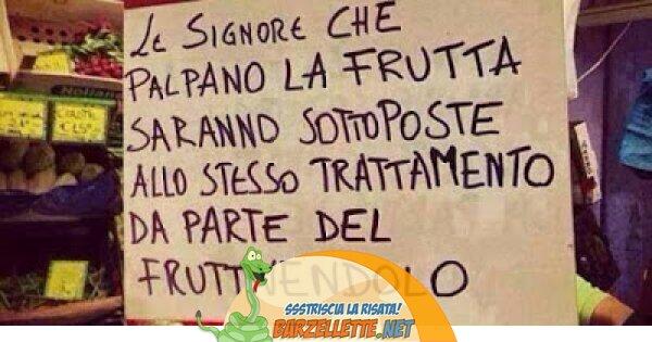 Foto Cartello Dal Fruttivendolo Per Non