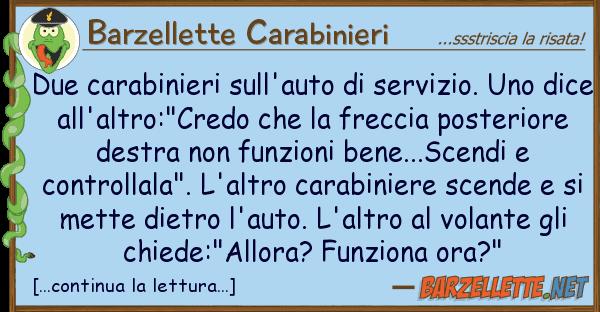 Barzellette Carabinieri due carabinieri sull'auto servizio. u