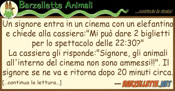 Barzellette Animali signore entra cinema ele
