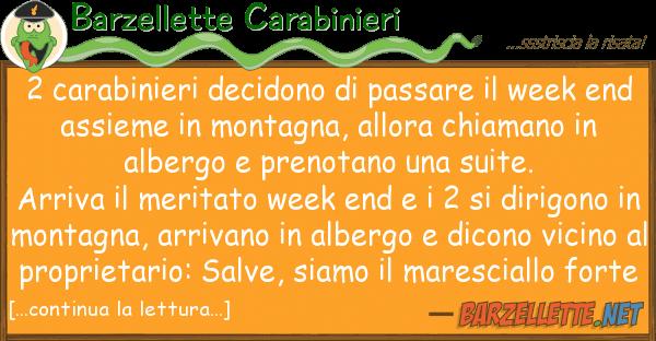 Barzellette Carabinieri 2 carabinieri decidono passare wee