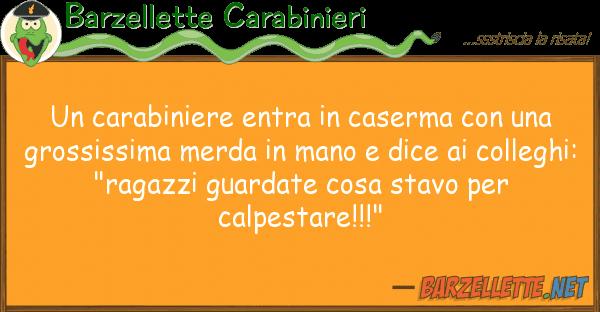 Barzellette Carabinieri carabiniere entra caserma