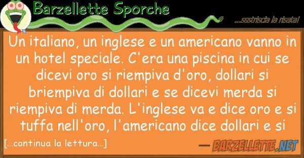 Barzellette Sporche italiano, inglese americano v