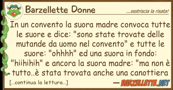 Barzellette Donne convento suora madre convoca