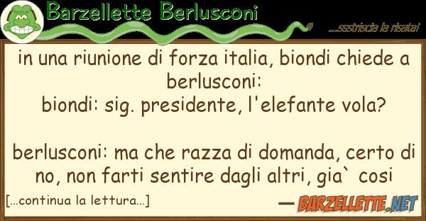 Barzellette Berlusconi riunione forza italia, biondi