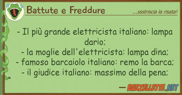 Battute e Freddure - pi? grande elettricista italiano: