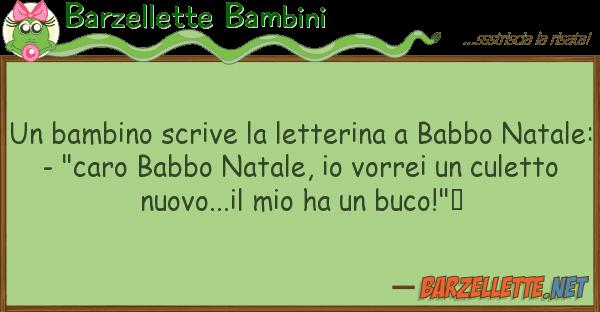 Barzellette Bambini bambino scrive letterina babbo n