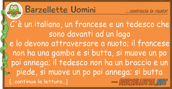 Barzellette Uomini c'? italiano, francese tedesc