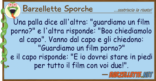 """Barzellette Sporche palla dice all'altra: """"guardiamo"""
