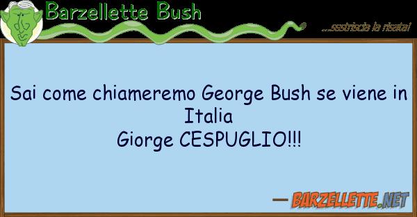 Barzellette Bush sai chiameremo george bush viene