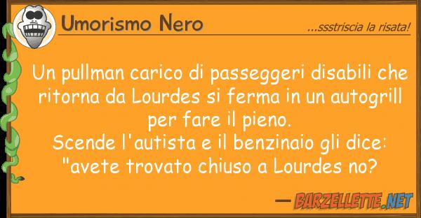Umorismo Nero pullman carico passeggeri disabili
