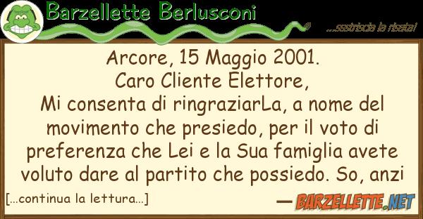 Barzellette Berlusconi arcore, 15 maggio 2001.  caro cliente
