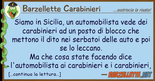 Barzellette Carabinieri siamo sicilia, automobilista vede