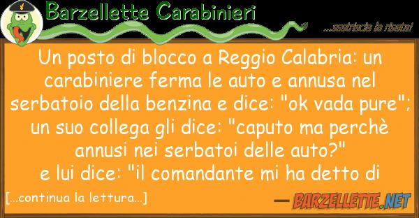 Barzellette Carabinieri posto blocco reggio calabria: