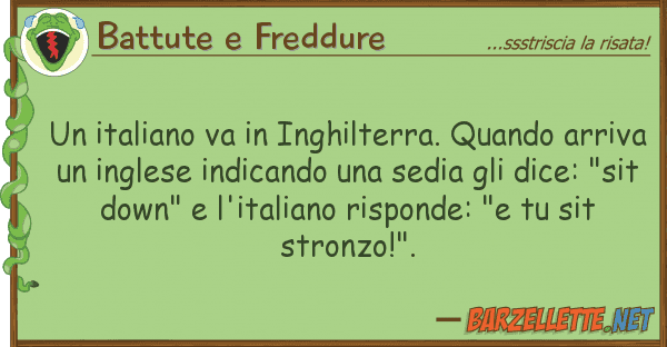 Battute e Freddure italiano va inghilterra. quando ar