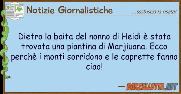 Notizie Giornalistiche dietro baita nonno heidi ? sta