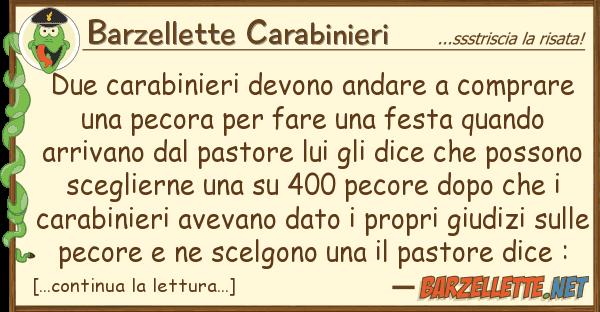 Barzellette Carabinieri due carabinieri devono andare comprare