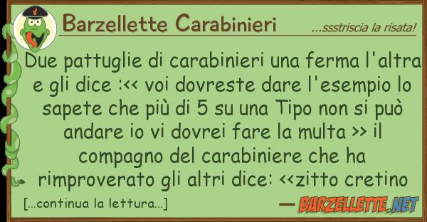Barzellette Carabinieri due pattuglie carabinieri ferma