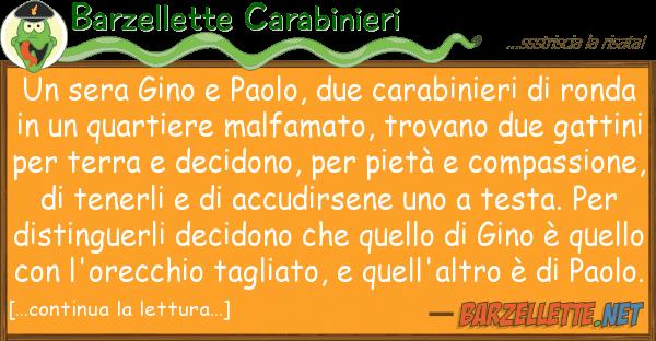 Barzellette Carabinieri sera gino paolo, due carabinieri