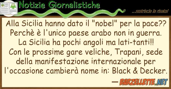 """Notizie Giornalistiche sicilia hanno dato """"nobel"""""""