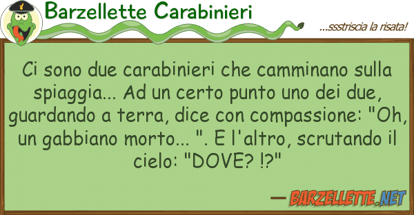 Barzellette Carabinieri sono due carabinieri camminano