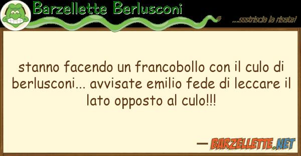 Barzellette Berlusconi stanno facendo francobollo cul