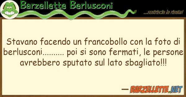Barzellette Berlusconi stavano facendo francobollo fo