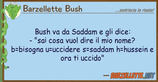 "Barzellette Bush bush va saddam dice: - ""sai"