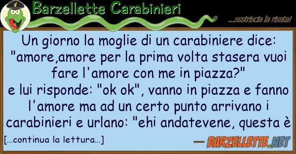 Barzellette Carabinieri giorno moglie carabiniere
