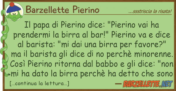 "Barzellette Pierino papa pierino dice: ""pierino vai ha"