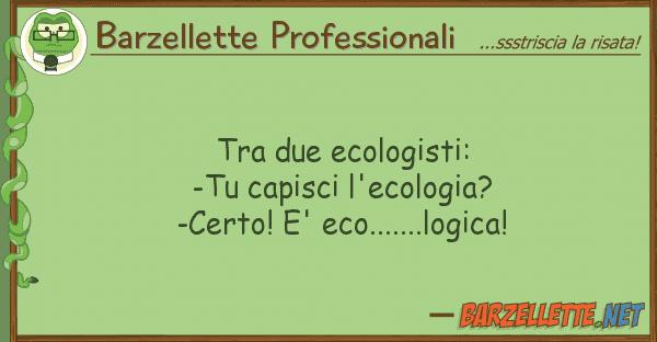Barzellette Professionali due ecologisti: -tu capisci l'ecol