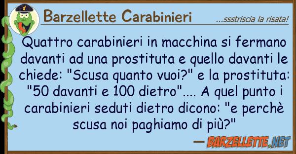 Barzellette Carabinieri quattro carabinieri macchina ferma