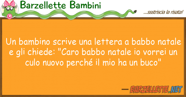 Barzellette Bambini bambino scrive lettera babbo na