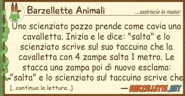 Barzellette Animali scienziato pazzo prende cavia u