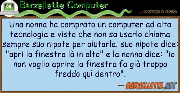 Barzellette Computer nonna ha comprato computer alt
