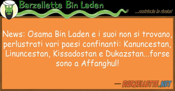 Barzellette Bin Laden news: osama bin laden tr