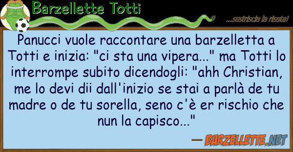 Barzellette Totti panucci vuole raccontare barzelletta