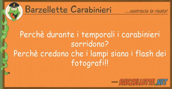 Barzellette Carabinieri perch durante temporali carabinieri