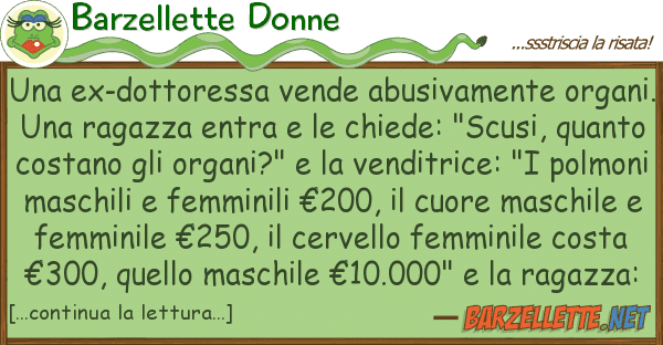 Barzellette Donne ex-dottoressa vende abusivamente org